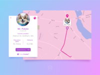 Daily UI Challenge 020: Location Tracker