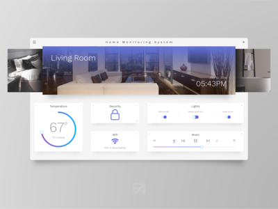 Daily UI Challenge 021: Home Monitoring Dashboard