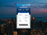 Daily UI Challenge 024: Boarding Pass