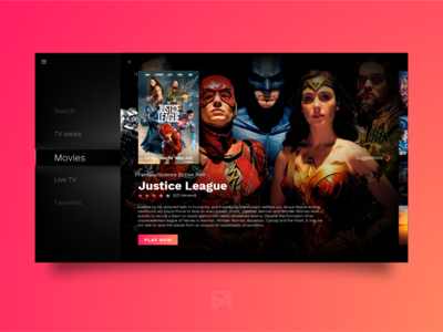 Daily UI Challenge 025: TV App