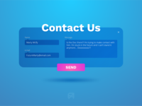 Daily UI Challenge 028: Contact Us