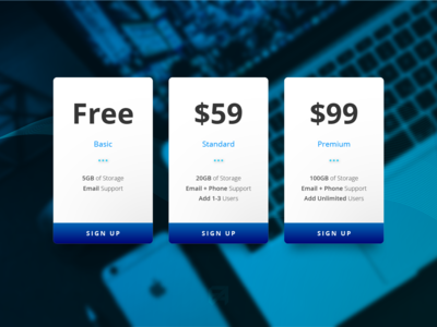 Daily UI Challenge 030: Pricing