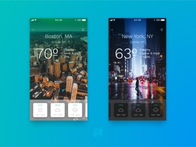 Daily UI Challenge 022: Weather