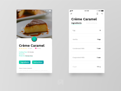 Daily UI Challenge 040: Recipe