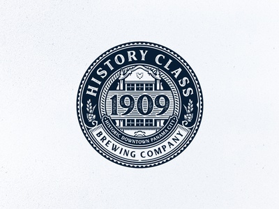 History Class / 1909 history brewing brewery beer emblem design logo