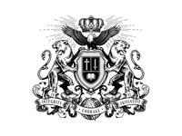 Mbao Family Crest crown lion eagle emblem badge sheald vintage design family crest soat of rams