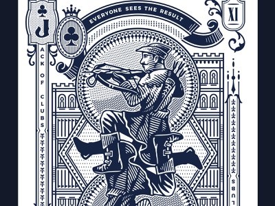 Stories / Jack of Clubs engraving victorian vintage illustration deck of cards cards playing cards
