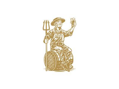 Ale Raiser / Illustration farmer vintage brewery craft beer illustration design logo