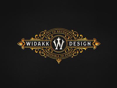 Widakk Design branding personal decorative victorian vintage design logo