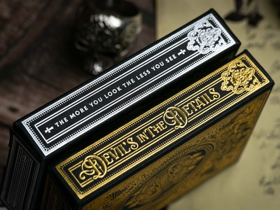 Devil's in the Details / TuckBox illustration design cards devil premium luxury packaging playing cards