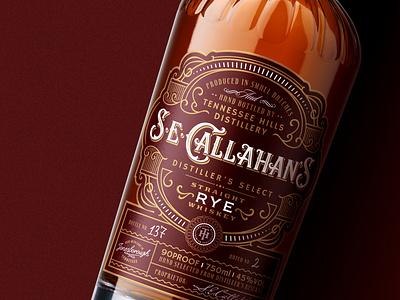 S.E.Callahan's / Rye bottle spirit lettering design tennessee whiskey packaging label
