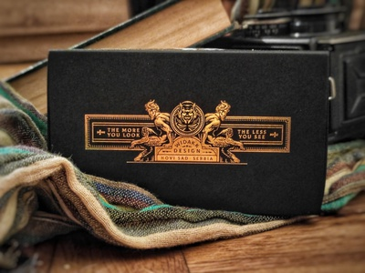 Devil's in the Details / Half brick box I illustration box luxury graphic design playing cards packaging