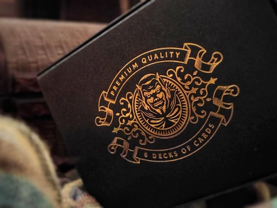 Devil's in the Details / Half brick box II design premium logo devil playing cards box packaging