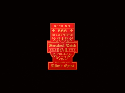 Devil's in the Details / Seal sayings devil playing cards seal design typography