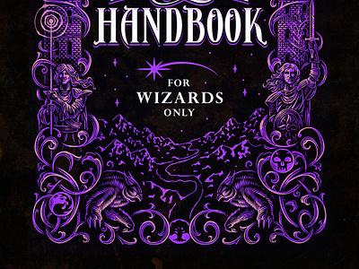 Wizards of the Coast - Employee Handbook board game design illustration book cover fantasy wizards