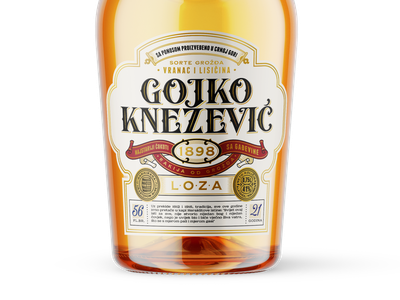 Gojko Knezevic Label vintage lettering bourbon spirit whiskey brandy design label packaging