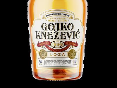 Gojko Knezevic Label vintage lettering bourbon spirit whiskey brandy design label packaging