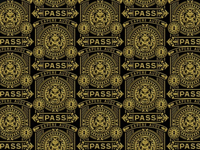 Pass / Lion luxury elegant design pattern lion