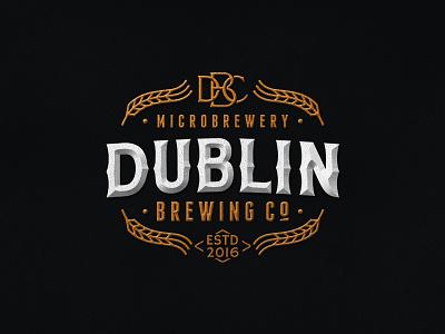 Dublin Brewing Co. pub brewery brewing beer logo