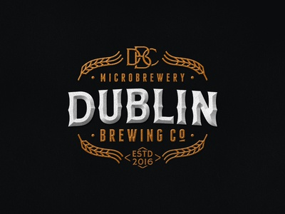 Dublin Brewing Co. pub brewery brewing beer logo