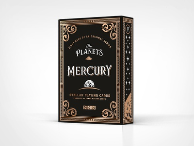 Mercury Tuck Box / Front stars mercury cards planets tuck-box playing-cards