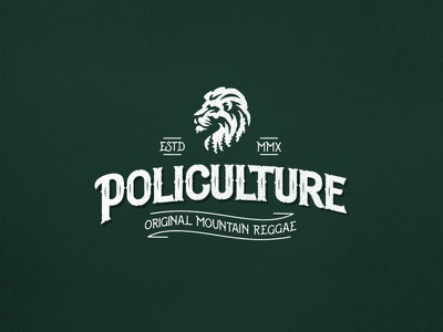 Policulture New Logo nature band music typography lion reggae