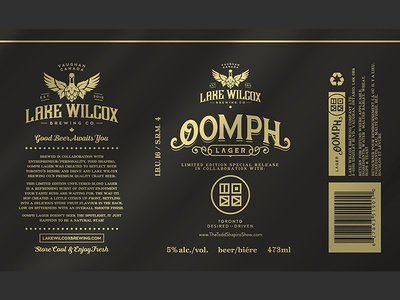 Oopmh Lager / Lake Wilcox can lager craft brewery brewing beer