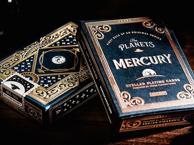The Planets: Mercury design card deck illustration planets playing cards
