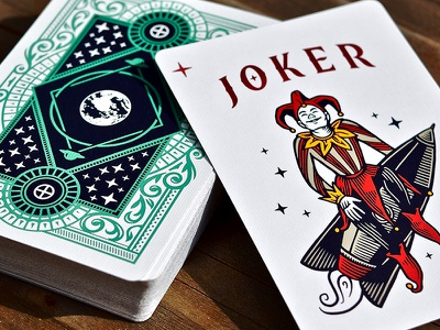 The Planets: Earth / Joker joker design card deck illustration planets playing cards