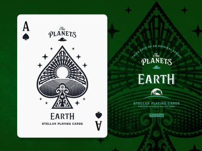 Earth / Ace of Spades planets earth playing cards spades ace