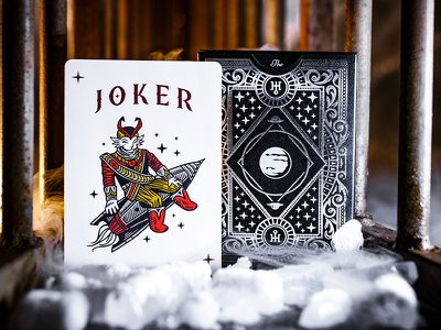 The Planets: Uranus joker design card deck illustration planets playing cards