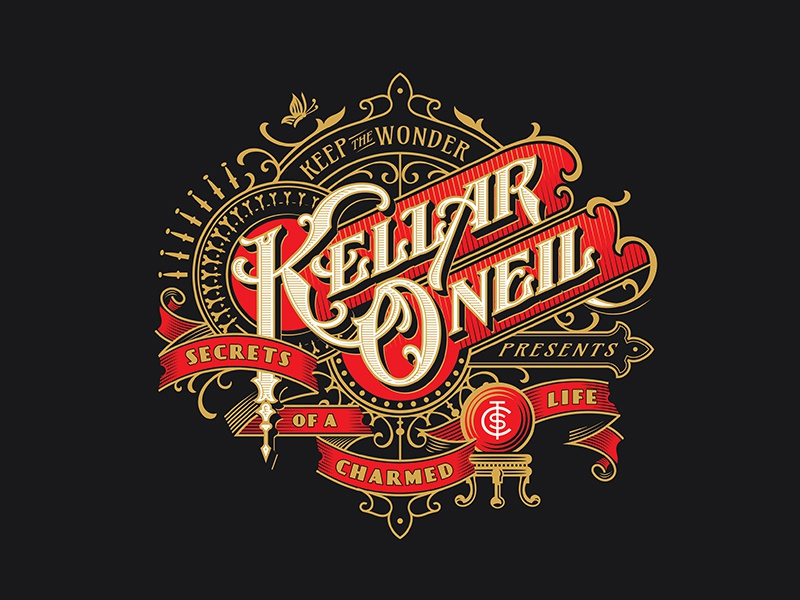 Kellar O'Neill logo handlettering magic vintage typography lettering