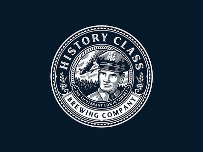 History Class 2 history badge emblem illustration design logo
