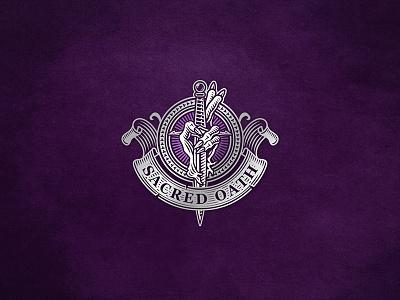 Sacred Oath / Hand with Dagger sacred dagger hand design illustration tattoo logo