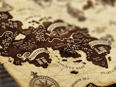 Lying Pirates / Map Detail II map games board game design vintage illustration
