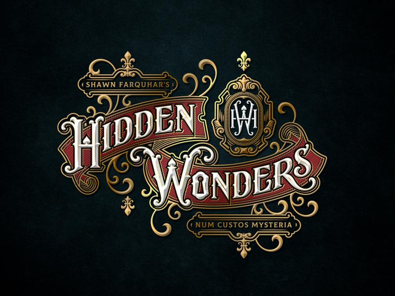 Hidden Wonders show magician wonder typography lettering magic logo