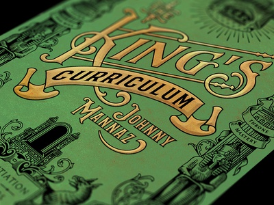 The King's Curriculum / Details typography lettering illustration cover book