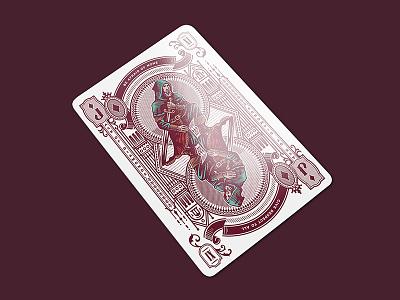 Stories / Jack of Diamonds vintage creative jack design game cards playing cards illustration