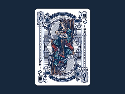 Stories / Queen of Spades queen engraving art book claver design illustration cards playing cards