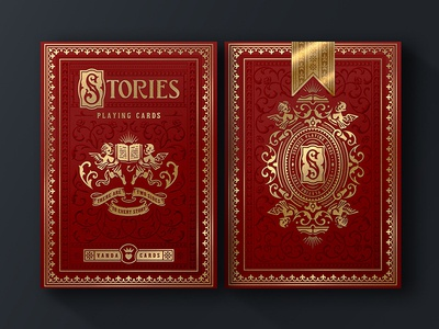 Stories / TuckBox packaging book cover book luxury box tuckbox cards playing cards