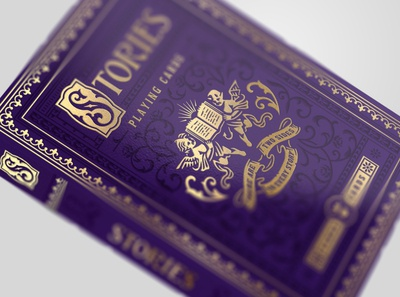 Stories / Jumbo deck book vintage purple jumbo packaging design illustration cards playing cards