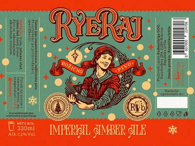 RyeRaj / RazBeerbriga illustration design label brewery craft beer