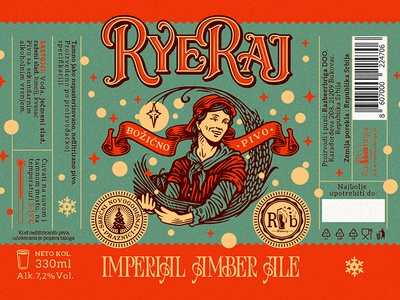 RyeRaj / RazBeerbriga illustration design label brewery craft beer