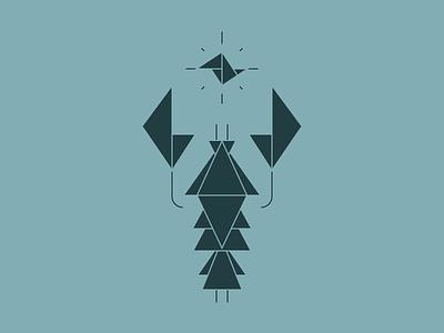 Lobster tangram triangle