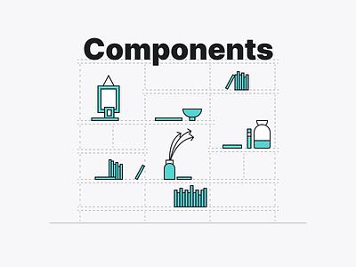 Figma covers - Design system widgets components shelves