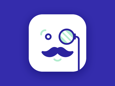 Like a sir! moustache gentleman monocle sir app icon