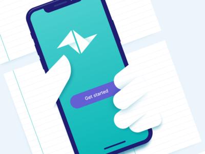 Phone app paper iphone x
