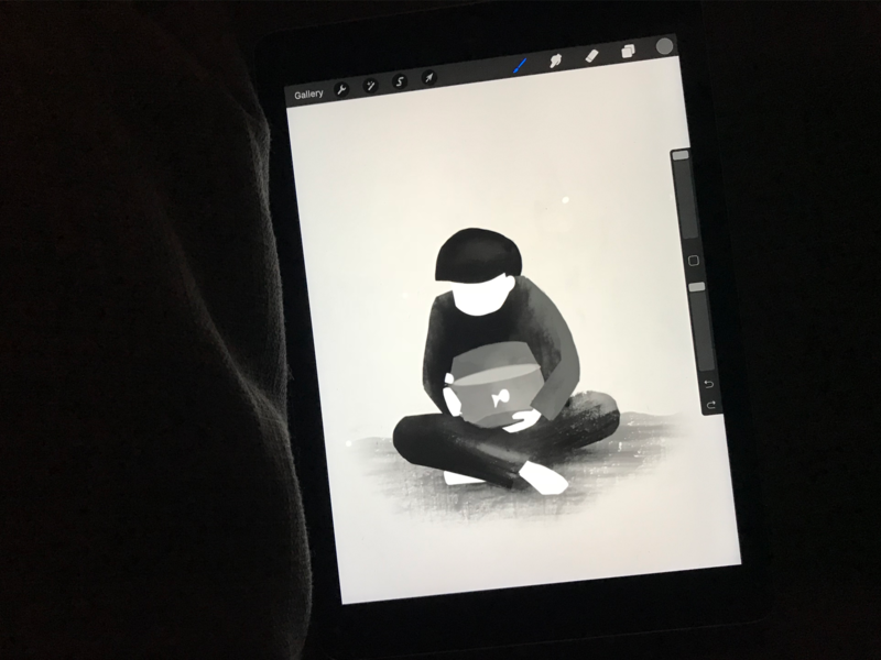 Drawing Practice wip ipad fish procreate