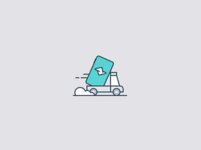 Mobile app on the road car truck mobile app