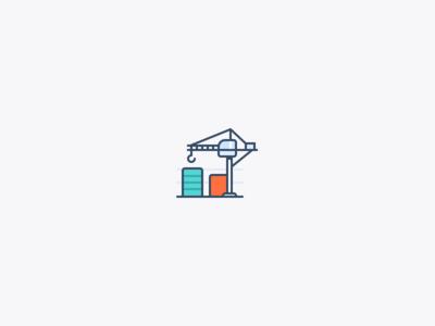Crane icon graph construction crane